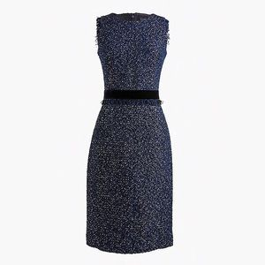 NWOT J.Crew Sparkle Tweed Dress Size 10